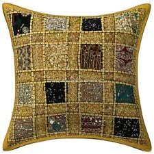 Dorm Decor Geometrical Sofa Cushion Cover Kantha Printed Pillow Case Cover