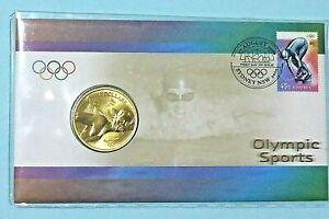 2000 Australia PNC Sydney Olympics Aquatic + $5 Coin Scarce  ** PRISTINE ** #1