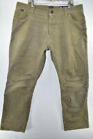 Kuhl Rydr Hiking Trail Pants Mens Size 40x32 Patina Dye Meas. 40x33 Tan Beige