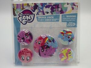 My Little PONY official Badge pack Cadeau Fan Fun Pack 5 HASBRO neuf
