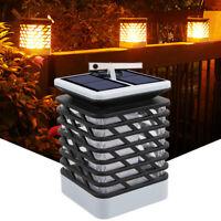 LED Solar Flamme Fackel Lampe Licht Flackernde Wasserdicht Batterie Garten DE