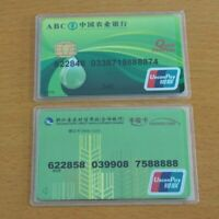 Plastic Card Id Holders Case Waterproof Transparent Card Holder Cards Protector
