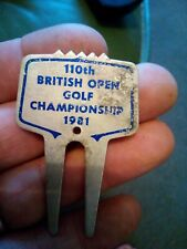 More details for rare 1981 british open golf royal st george's pitch mark repairer groove cleaner