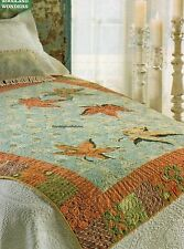 Cascade Of Leaves Quilt Pattern Pieced/Applique WS