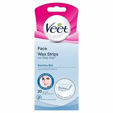 Veet Face Wax Strips Sensitive Skin - Pack of 20 **FREE DELIVERY**