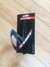 TIME Carbon Bottle Cage Red/White Logo Matt Black Carbon Bicycle Velo Racing