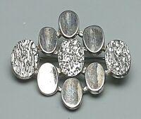 Vintage Silber Brosche naturalistisch 50er/60er Jahre 835 Silber punziert / A855