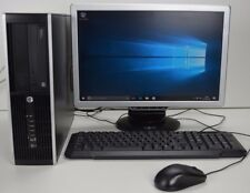 "OFFICE PC DESKTOP HP QUAD i5 16GB DDR3 500GB HD Win 10 COMPUTER FULL SET 19"" TFT"