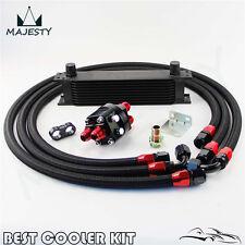 Universal 10 Rows Oil Cooler Kit  For Honda Nissan Subaru Impreza WRX STI