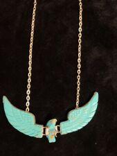 Native Navajo Handmade Sterling Silver Turquoise Eagle Necklace - Ben Livingston