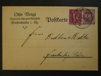 1923 Friedrichroda Germany Otto Boigt Advertising Inflation Postcard Cover