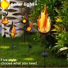 P/D: LED Solar Außen Steck Leuchte Garten Erdspieß Glas Kugel Lampe Flamme Dekor