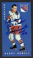 Harry Howell signed autograph auto Parkhurst Tall Boy Hockey Trading Card