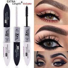 2Pcs/Set 4D Silk Fiber Eyelash Mascara Black Mascara + Waterproof Silk Fiber
