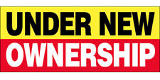 Under New Ownership Vinyl Banner Concession Sign 3x10 ft - yrb