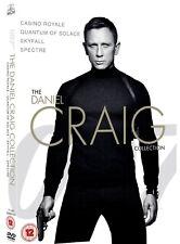 JAMES BOND 2006-2015 - 4 Daniel Craig Collection Movies! -  DVD Set  - NEW UK
