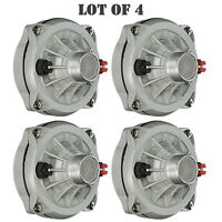 Lot of (4) Pyle PDS432 High Power Tweeter Compression Horn Driver DJ Pro