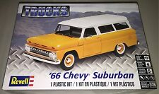 Revell '66 Chevy Suburban 1/25 plastic model car truck kit new 4409