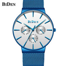 BIDEN Water Resistant Blue Luxury Precise Japanese Quartz Movement Wrist Watches