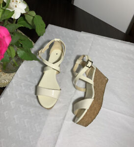 Jimmy Choo Patent Leather Wedge Sandals Shoes Heels Size 36.5/37 UK 3/4 RRP£425