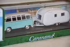 CARARAMA 148-013 - Volkswagen Bus Samba combi avec caravane    1/43