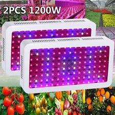 2PCS 1200W LED Grow Light Kits Lamp for Plants Veg Growing Growth Full Spectrum