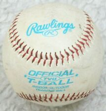 Rawlings White TVB T-Ball Indoor Outdoor Training Soft Core Synthetic Leather