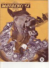 Revue ancienne Motocycles 1949, Essais 125 Jonghi, Nougier, Suspensions Grazzini