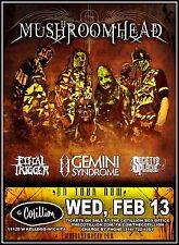 MUSHROOMHEAD /GEMINI SYNDROME 2013 WICHITA CONCERT TOUR POSTER-Heavy Metal Music