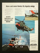12/1977 PUB AGUSTA HELICOPTER AGUSTA BELL 212 SIKORSKY ORIGINAL AD
