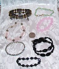 Very Retro Pieces 7 Total Lot Of Costume Bracelets Most Stretch