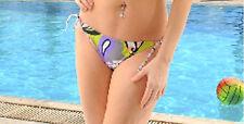 Swimsuit Bikini Bottom Black L 12 14 NEW Large String Tie Sexy 99Degrees 144