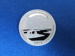 2014-S Silver Quarter GREAT SAND DUNES Deep Cameo Mirror Proof Upper Grades