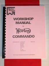 Shop Manual Fits Norton Commando 750 1970 1971 1972 1973
