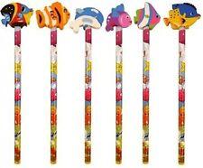 24 Vie aquatique Design crayons avec en forme de GOMME dessus vrac