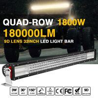 Barra LED 1800W  32'' LED Work Light Bar Flood Spot Driving 4x4WD SUV BOAT