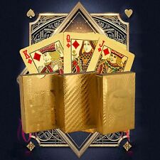 Waterproof 24K Golden Foil Playing Cards Poker Set Table Playing Card Party Game