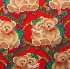 1 yard Bear Hugs Christmas  Fabric