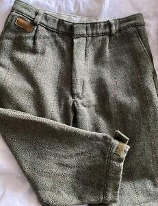 Open Air Wool Blend Herringbone Plus Four Trousers. 30 Waist