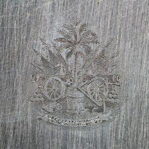 American Bank Note Company: Haiti Printing Plate - ABNC Stamp Plate