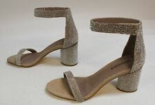 Jeffrey Campbell Women's Laura Embellished Heeled Sandals MW7 Silver Size US:8