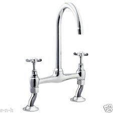 Deva CR305 Coronation Bridge Sink Mixer tap Swivel Spout Kitchen Traditional Tap