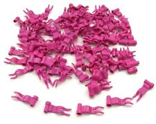 Lego 100 New Dark Pink Flags 4 x 1 Waves Castle Pieces