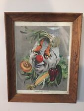 Vintage Vegetable Clown Cydney Pub New York Cydney Grossman