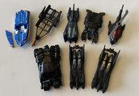 DC Comics Hot Wheels Batman Car Batmobile Batboat Lot Of 6 Loose Die Cast Cars