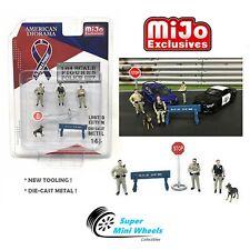 1:64 Figures Sheriff Police 6 pc Set Die Cast Metal - American Diorama Mijo