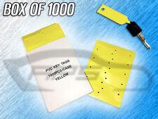 Plastic Pvc Write On Arrow Id Service Key Tags - 1 Box Of 00004000  1000 Tags - (Yellow)