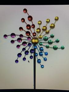 Exhart Art In Motion Kaleidoscope Wind Spinner NIB 5ft Tall