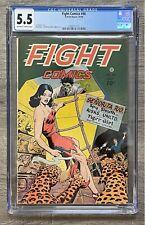 Fight Comics #46 CGC 5.5, FN-, OW-White Pages, Matt Baker, Fiction House, 1946