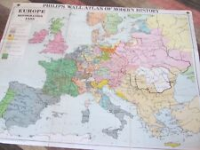 Vintage/Antique? Phillips Wall Atlas of Modern History - Modern History /Europe